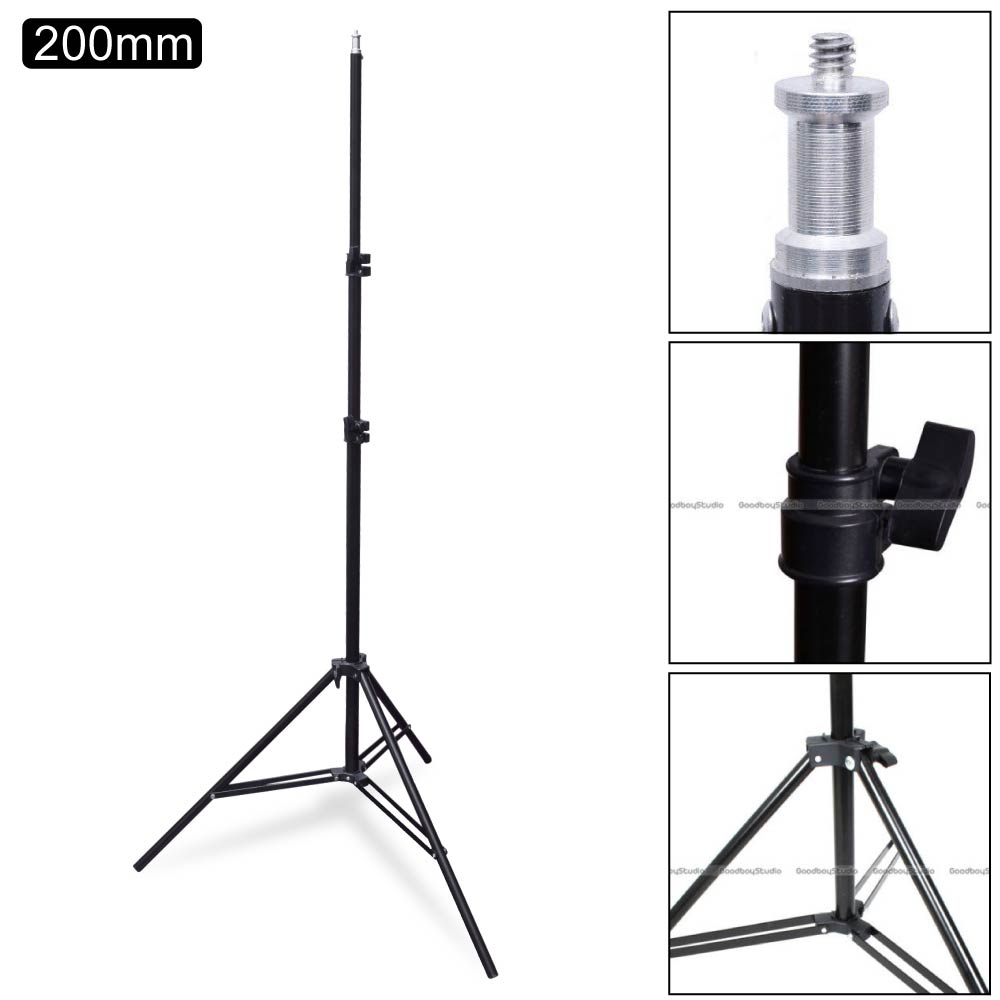 Studio 200cm / 2M / 6.5ft Photo Video Lighting Light Stand 1/4 for Flash Strobe