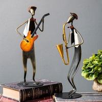 Nordic Musician Sculpture Guitar Saxophone Character Figurines Creative Figure Music Piano Violin Miniatures Statue Model Crafts