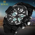 Men's Quartz Digital Watches Brand Sports Watches BINZI S Shock Relojes LED Military Waterproof Wristwatches Relogio Masculino