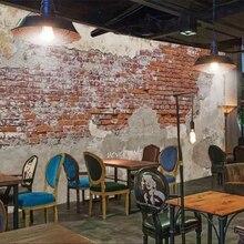 Papel de pared Beibehang papel pintado personalizado 3d foto Mural pintura cemento Vintage pared de ladrillo café restaurante fondo de papel de pared