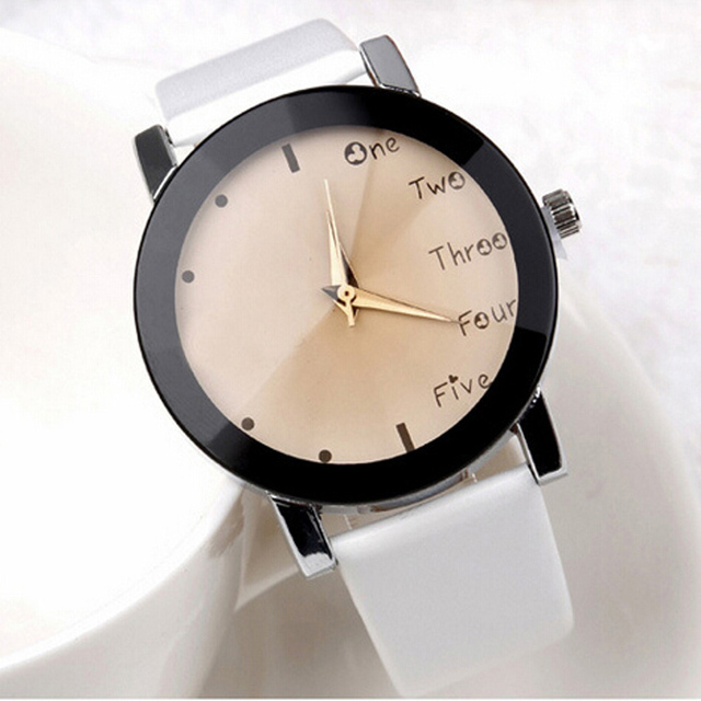 Watch with Leather Band