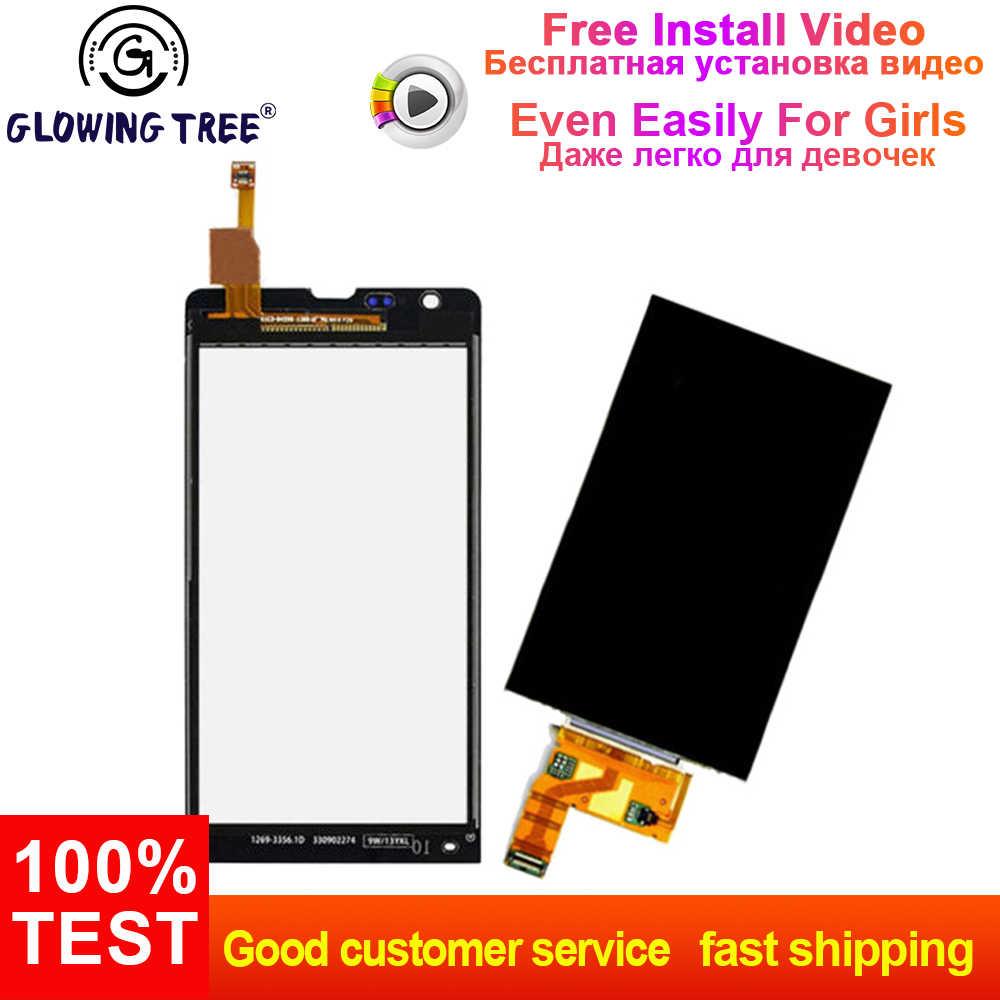 עבור Sony Xperia SP M35h C5302 C5303 C5306 M35 מגע מסך Digitizer זכוכית + LCD תצוגת לוח צג החלפה