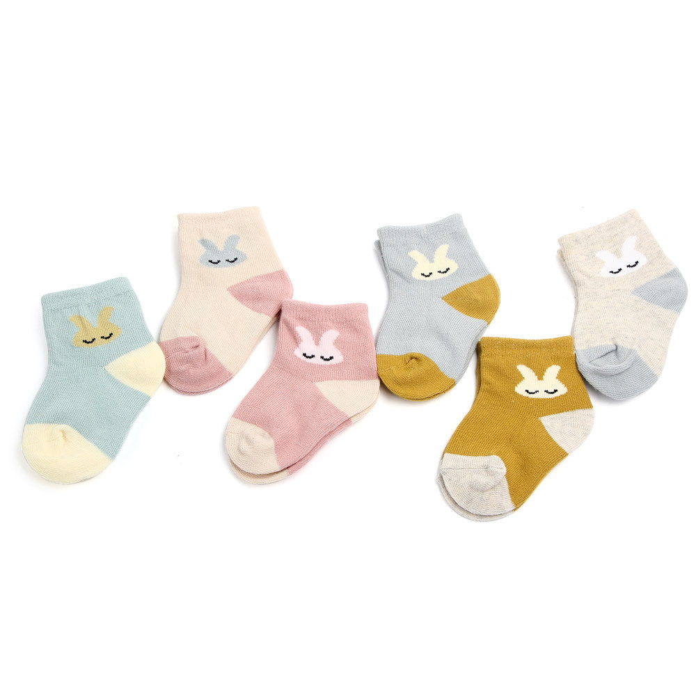 1 Pair Spring and Autumn Fashion Cute Animals Children Socks Small Rabbit Cartoon Girl Socks Baby Infant Newborn Socks 0-1Year1 Pair Spring and Autumn Fashion Cute Animals Children Socks Small Rabbit Cartoon Girl Socks Baby Infant Newborn Socks 0-1Year