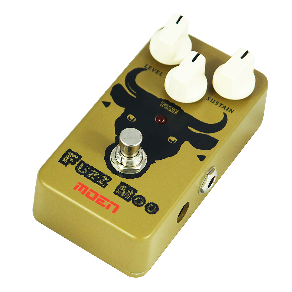 Moen Fuzz Moo Effect Pedal Electric Guitar Effects AM-FZ True Bypass mooer grey faze fuzz guitar effect pedal electric guitar effects true bypass with free connector and footswitch topper