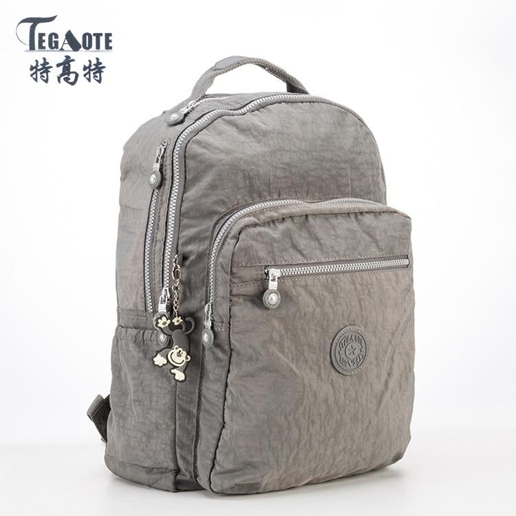 TEGAOTE 2017 Backpacks Nylon Schoolbag Backpack for Teenage Girls Mochila Feminina Mujer Women Backpack Travel Bags Female women backpack solid schoolbags backpacks for teenage girls hot lona escolar mochila feminina backpack women mochilas mujer 2017