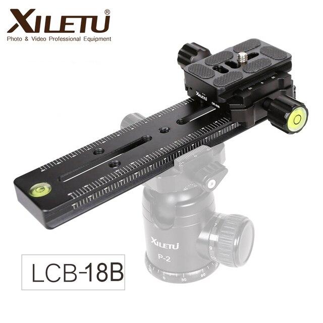 XILETU LCB 18B מסלול דולי Slider התמקדות הפוקוס Rail Slider & קלאמפ וqr נפגש צלחת Arca שוויצרי עבור DSLR מצלמה canon