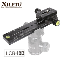 Xiletu LCB 18B 트랙 dolly slider 포커스 레일 슬라이더 및 클램프 및 qr 플레이트 dslr 카메라 canon 용 arca swiss