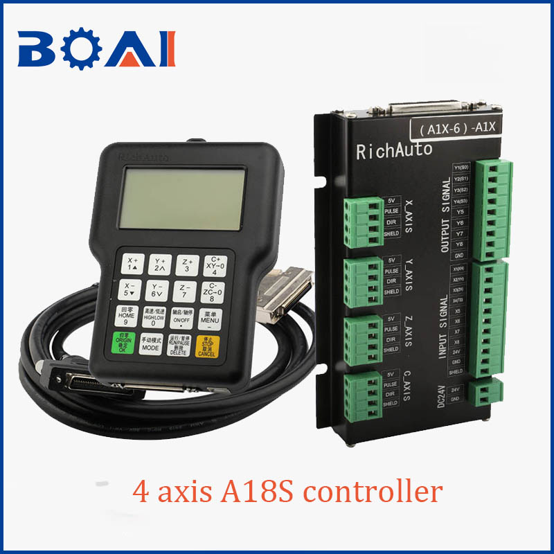 4 axis controller DSP control system A18S RichAuto brand cnc machine tools control system cnc parts