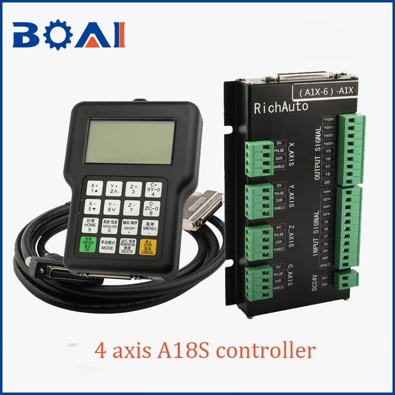 Contrôleur 4 axes DSP système de contrôle A18S RichAuto marque CNC machines-outils système de contrôle pièces de CNC
