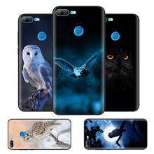 Black Bag Soft Silicone Case Cover for Huawei honor 8X 8C 8A 10 20 Y6 Y9 2019 Lite Play Enjoy 9S 9E 20i Phone Fall Cat Owl Anima(China)