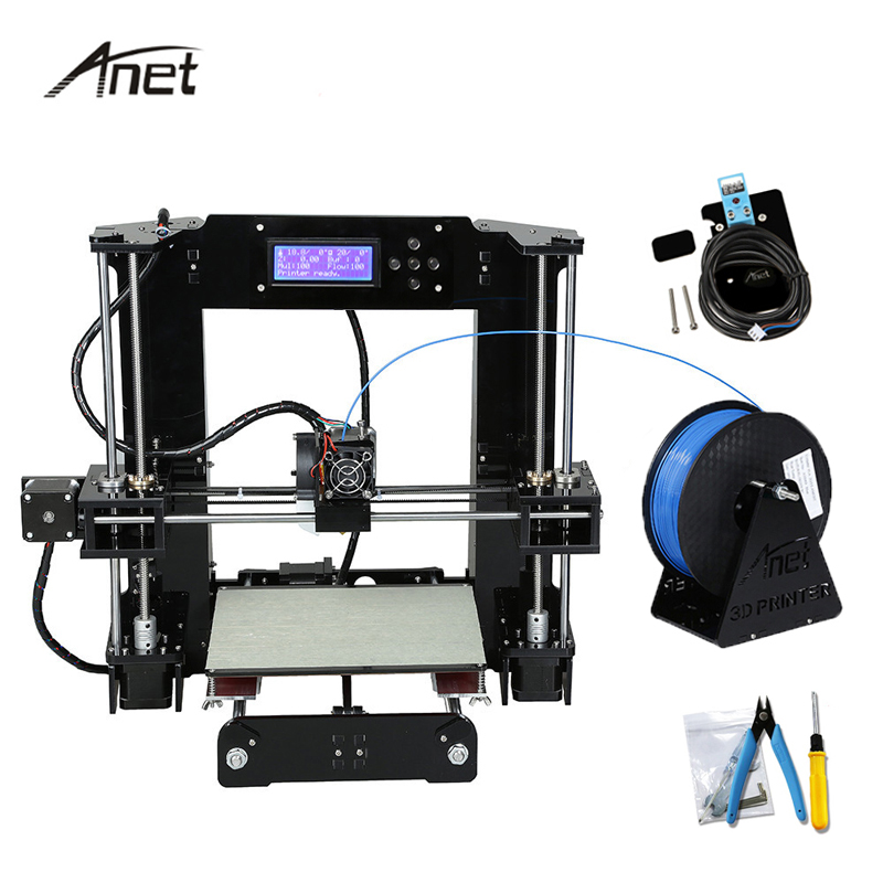 Anet A6 Auto Leveling DIY Impresora 3D Printer Kit Imprimante 3D Printers Aluminium Hotbed Gift Filament 16GB SD Card Build Tool easy assemble anet a6 a8 impresora 3d printer kit auto leveling big size reprap i3 diy printers with hotbed filament sd card