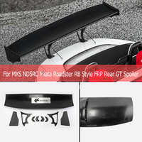 Car Styling RB Style FRP Fiber Glass Rear GT Spoiler Fiberglass Trunk Wing Racing Tuning Part For Mazda MX5 ND5RC Miata Roadster