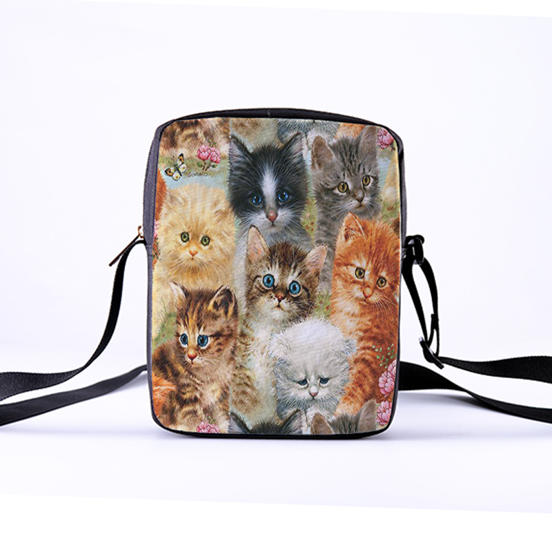 CROWDALE Customize Women Crossbody Bags DIY painting cat series for Kid Female bag Children Messenger Bag Bolsos Mujer 23x17x5cmCROWDALE Customize Women Crossbody Bags DIY painting cat series for Kid Female bag Children Messenger Bag Bolsos Mujer 23x17x5cm