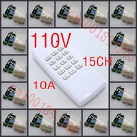 110V 15CH Home Appliance Wireless Remote Controller Receiver Transmitter Lamp Light LED Remote ON OFF Controller