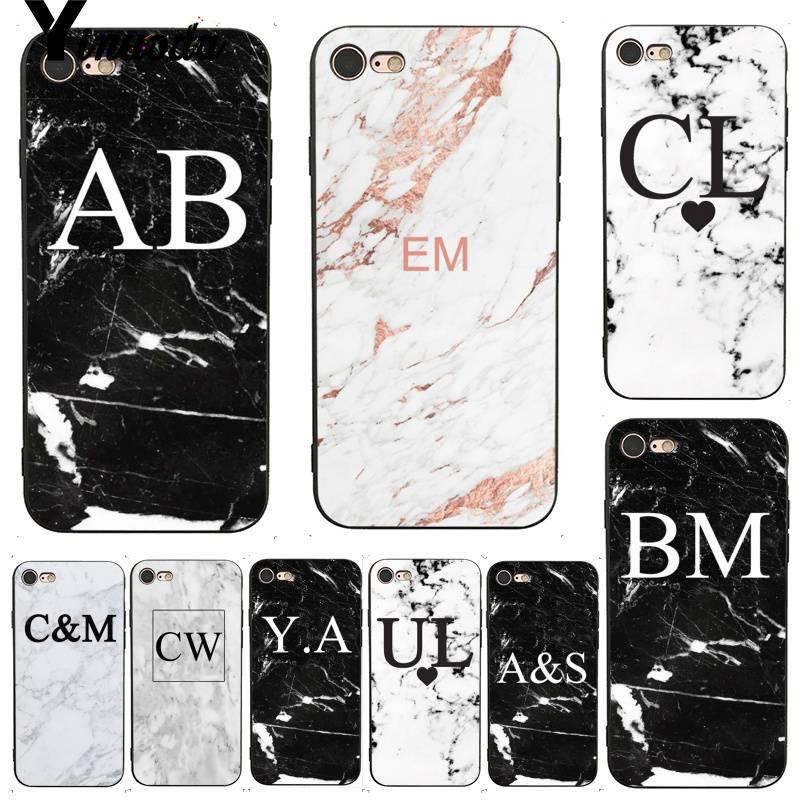 iphone 8 case marble initials