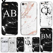 Yinuoda For iphone 7 6 X Case MONOGRAM MARBLE INITIALS Perfect DIY Phone Cover for iPhone 6S 8 Plus 5 XS XR XSMAX
