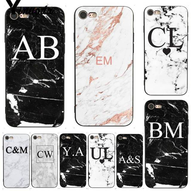 e741d0e17fe0 US $1.16 9% OFF Yinuoda For iphone 7 6 X Case MONOGRAM MARBLE INITIALS  Perfect DIY Phone Case Cover for iPhone 7 X 6 6S 8 Plus X 5 XS XR XSMAX-in  ...
