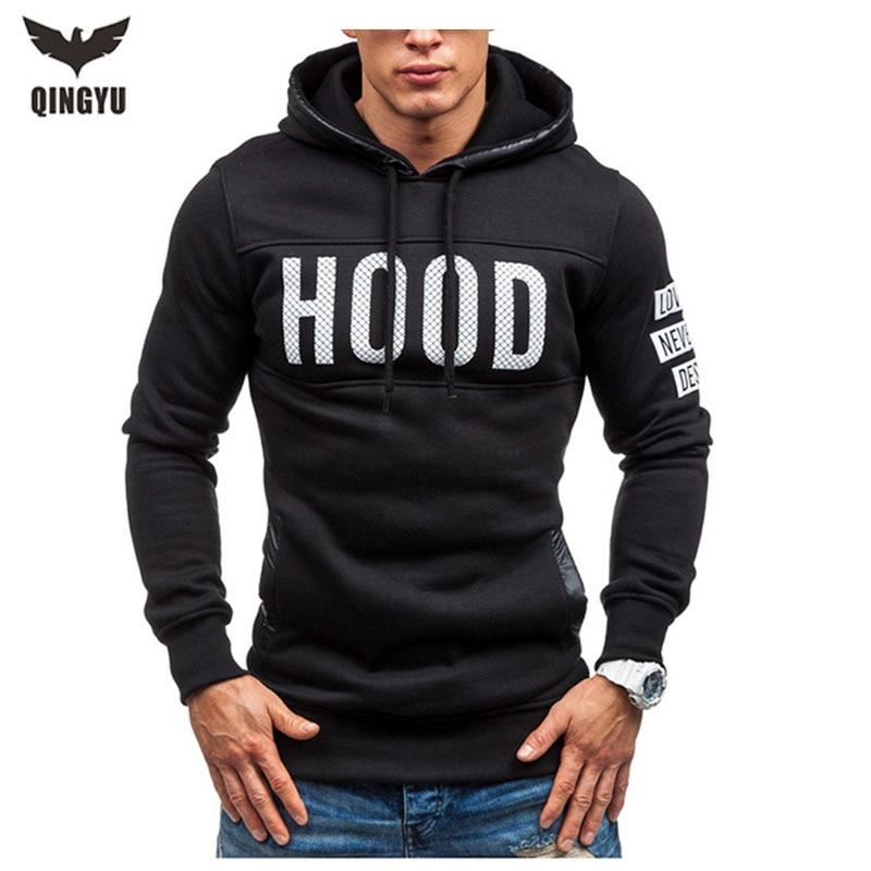 Moleton Masculino 2016 Slim Hoodies Men Sweatshirt Long Sleeve Pullover Hooded Sportswear Men S Letters Printed