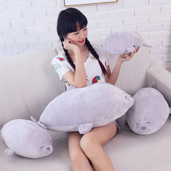 simulation Big Emulational Animal Seal Giant Plush Toy Soft Seals Stuffed real Doll Pillow Baby Play Gift fancytrader new giant plush soft simulated animal zebra toy photography props nice baby gift 4 sizes