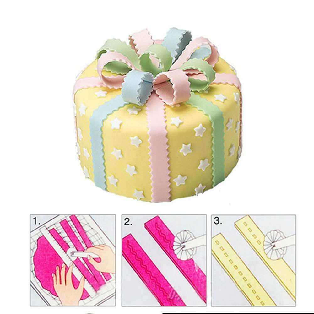 Bánh kẹo Kéo Cắt Và Embosser Sugarcraft Công Trang Trí Để Tạo Hình TỰ LÀM Dụng Cụ Bánh Xe Cắt Thủ Công Giáng Sinh Trang Trí Bánh Dụng Cụ