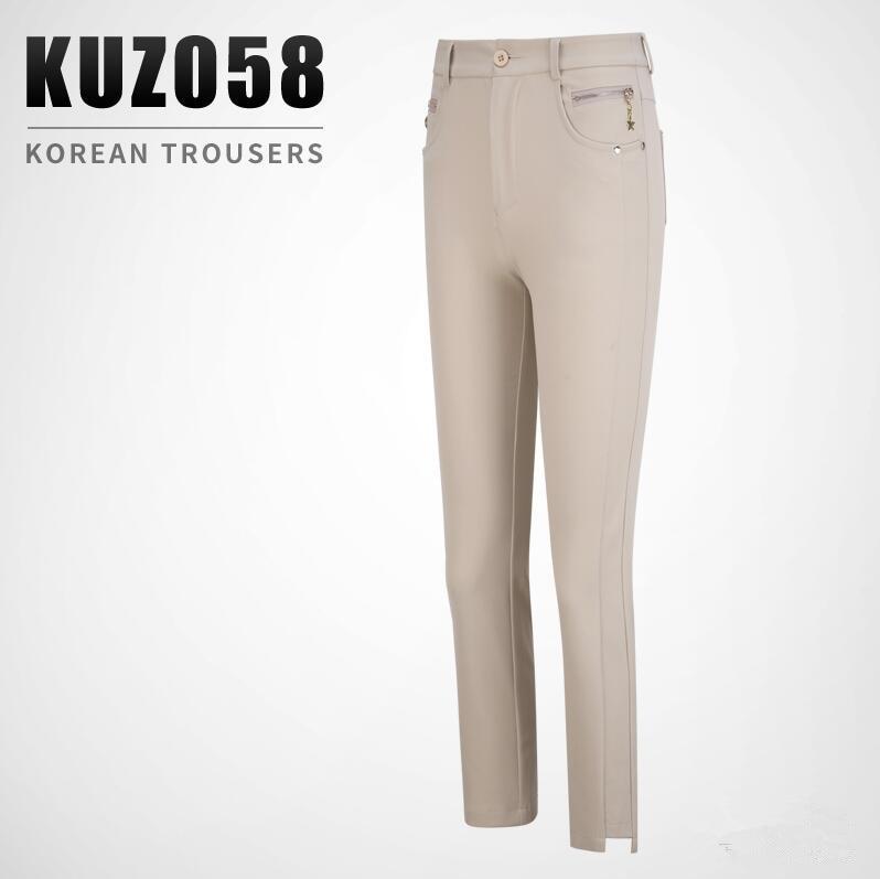 2019 New golf sportswear apparel Women's breathable quick dry golf pants ladies summer elasticity Slim golf Sports capris pants