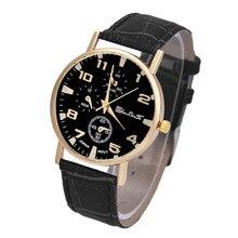 Hombres Del Reloj de moda de Imitación de Cuero de Cuarzo Analógico Reloj de Pulsera Simple del Estilo Casual Para Hombre Sprots Relojes de Pulsera Relogio masculino