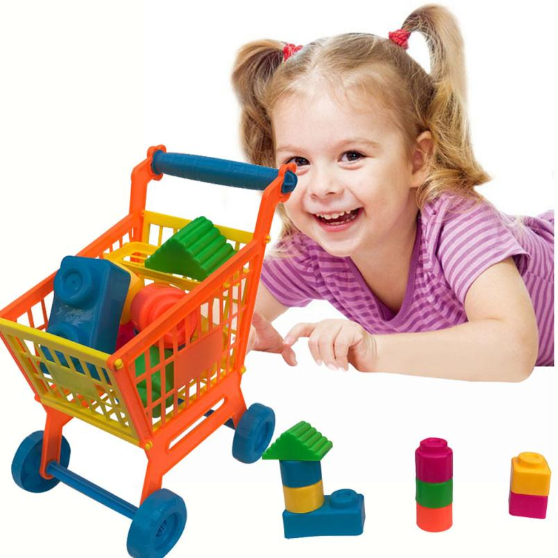 Shopping Carts Building Blocks Pretend Play Children Kid Educational Toy Developing thinking skill Building Blocks t211