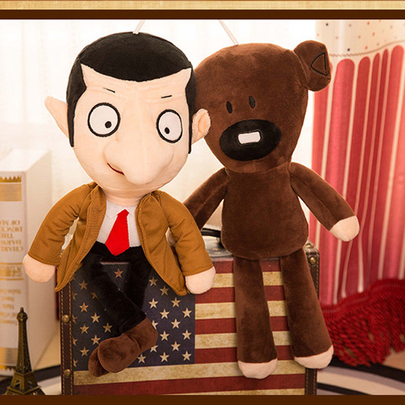 30cm Movie Mr Bean Teddy Bear Cute Plush Stuffed Toys Mr.Bean Teddy Bear Plush Toys For Children Birthday Present Gifts