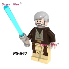 1PCS star wars superhero marvel avengers Obi Wan Kenobi building blocks action sets model bricks font