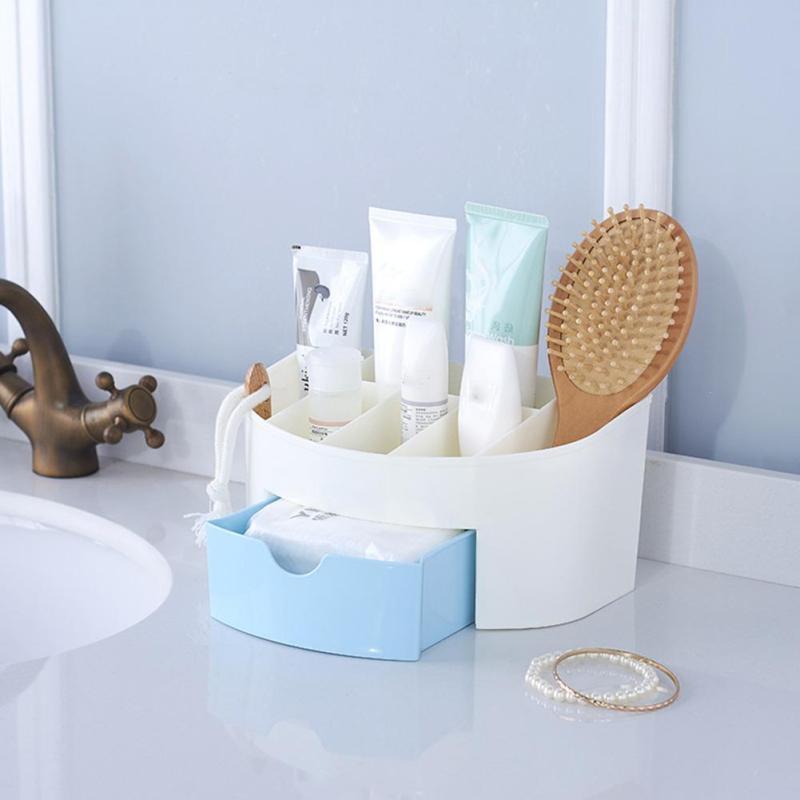 Home Storage Box Desktop Shelves Storage Case Makeup Cosmetic Organizer for Jewelry Multi-grid Fashion #30