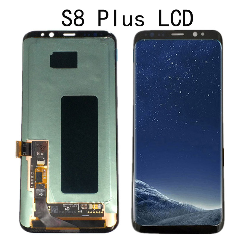 For SAMSUNG Galaxy S8 G950 G950F LCD Display Touch Screen Digitizer Replacement For SAMSUNG S8 Plus G955 G955F LCD With Frame
