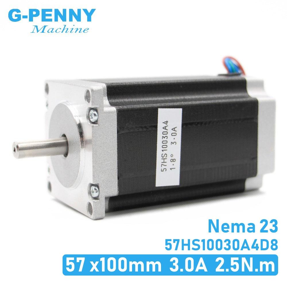 NEMA 23 Stepper motor 57x100mm 2.5Nm Nema23 CNC stepping motor 357Oz-in D=8mm for CNC machine, 3D printerNEMA 23 Stepper motor 57x100mm 2.5Nm Nema23 CNC stepping motor 357Oz-in D=8mm for CNC machine, 3D printer