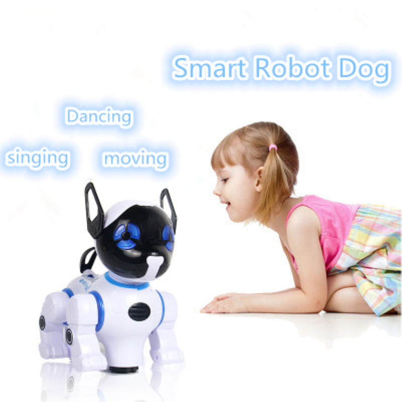 Intelligent RC Robot Dog Wireless Remote Control Smart Dog Electronic Pets Kid learning toy Move Speak Toy VS Electric Dinosaur