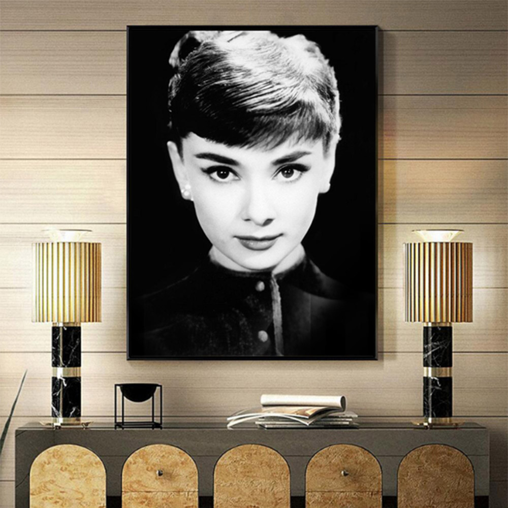 Unframed HD Canvas Prints Portrait Audrey Hepburn Giclee Wall Decor Prints Wall Pictures For Living Room Wall Art Decoration