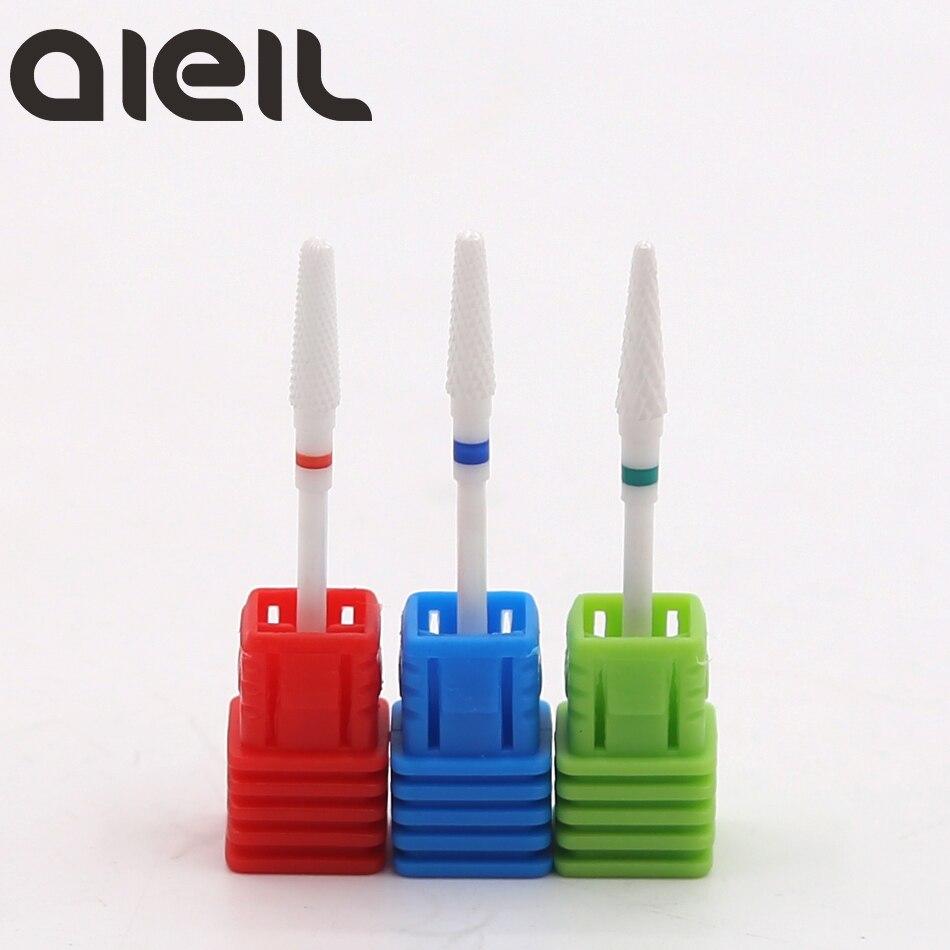 Ceramic Nail Drill Bits Cutters For Manicure Machine Nozzle For Ceramic Milling Cutters For Manicure Electric Nail Drill Machine