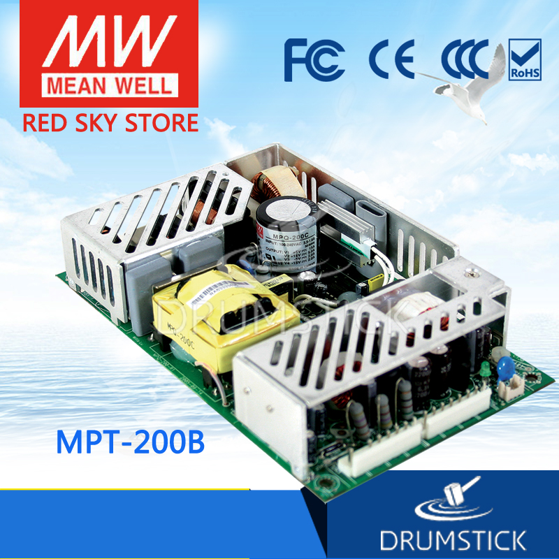 Hot sale MEAN WELL MPT-200B meanwell MPT-200 200W Triple Output Medical Type new worthwhile free shipping mean well mpt 200c 2pcs meanwell mpt 200 200w triple output medical type