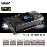 Yeston NVIDIA GeForce GTX 1050 Ti GPU 4GB GDDR5 128 Bit Gaming Desktop Computer PC Video