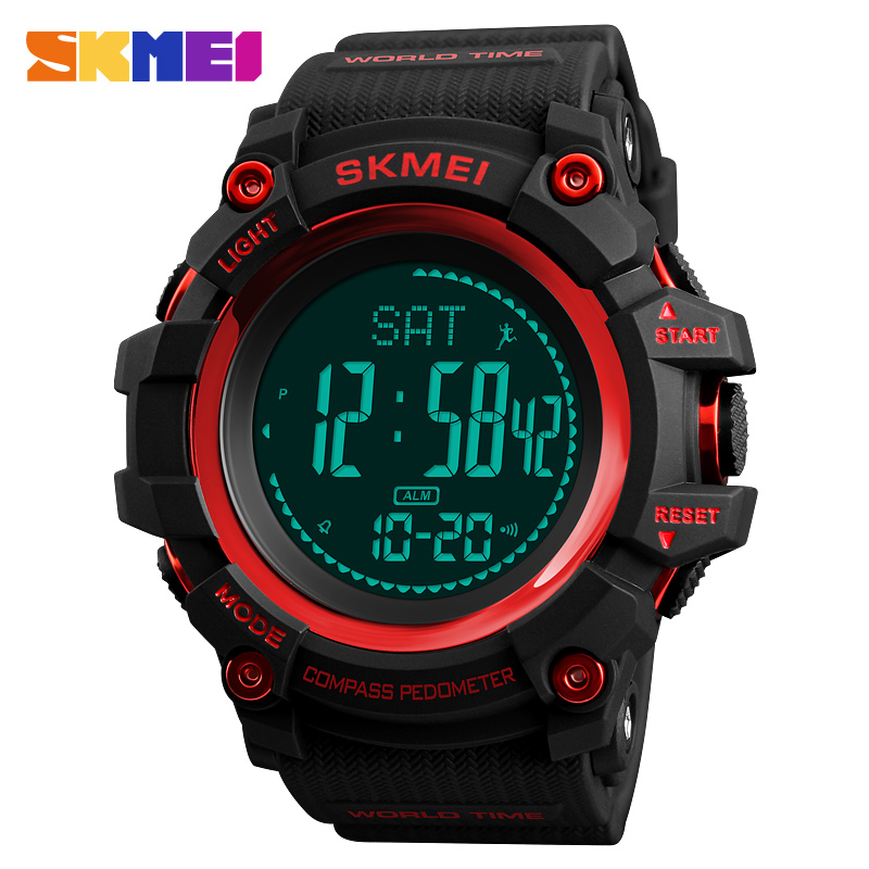 Initiative Watch Men Compass Pedometer Calorie Digital Military Sports Watches Clock World Time Electronic Alarm Relogio Masculino Skmei Be Shrewd In Money Matters Watches