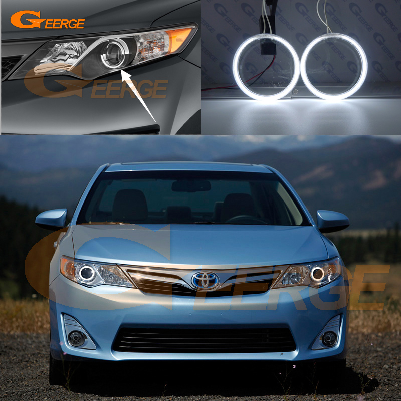 For Toyota Camry 2012 2013 2014 SE Daihatsu Altis Excellent angel eyes Ultra bright illumination CCFL Angel Eyes kit Halo Ring