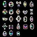 5 unidades/pacote Nova Alta Qualidade AB Strass Liga Decorações Nail Art Glitter Charme 3D Prego Jóias DIY Suprimentos Manicure