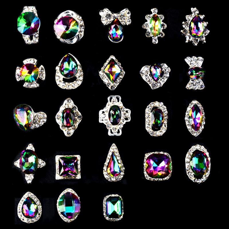 5pcs/pack New High Quality AB Rhinestone Alloy Nail Art Decorations Glitter Charm 3D Nail Jewelry DIY Manicure Supplies 2014 new arrive rose flowers nail decorations 7mm 24pcs set 3d alloy charm design manicure nail art accessories