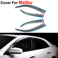 4pcs/lot Window Visors For Chevrolet Malibu 2012 2013 2014 Sun Rain Shield Stickers Covers Car Styling Awnings Shelters
