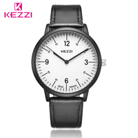 Classic New Fashion Simple Men Women Watches KEZZI Top Brand Luxury Couple Watches For Lovers Leather