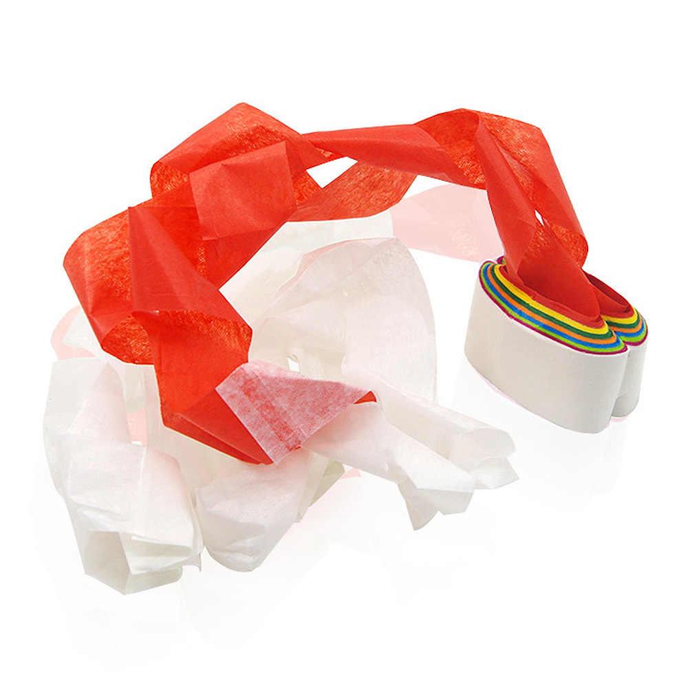 12 unids/pack Magic Prop Color bocas tirar de papel juguete mágico cielo araña seda novedad broches prácticos para niños juguete