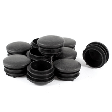 10 штук Пластиковые черные 35 мм Диаметр глухие заглушки для ног круглые трубки вставки