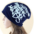 skull Beanie Warm Winter Ski Hat Baggy Slouchy Oversize cap words printing
