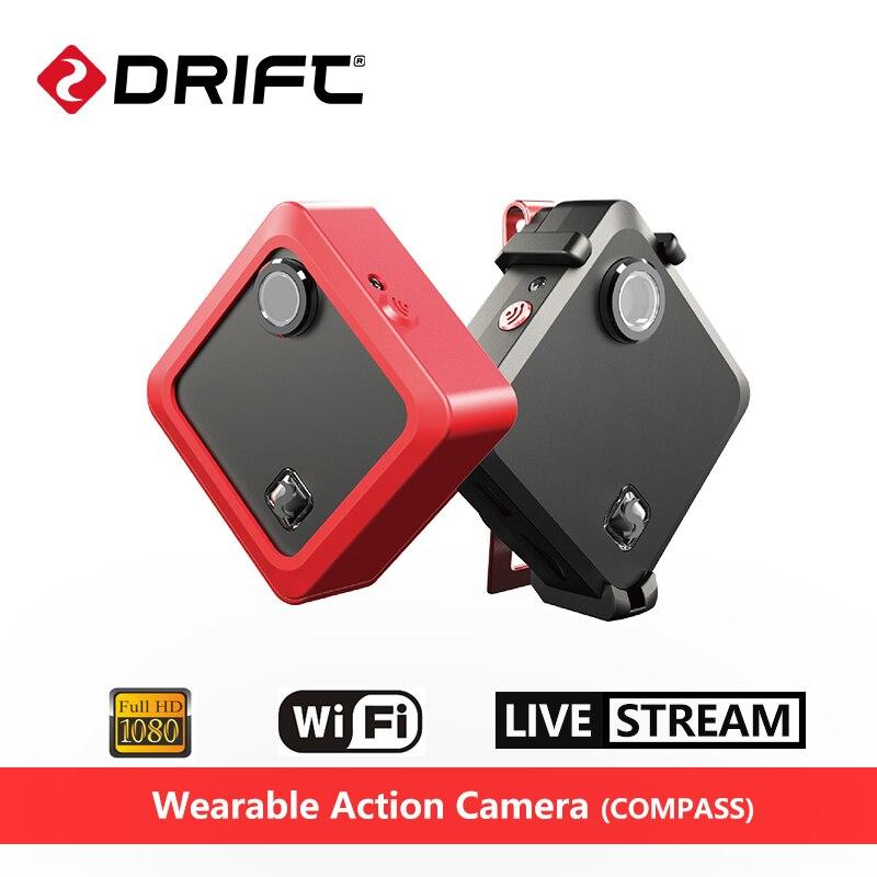 Original Drift COMPASS Wearable Action Camera 1080P HD 8MP Sport Mini Cam With WiFi Ambarella A7