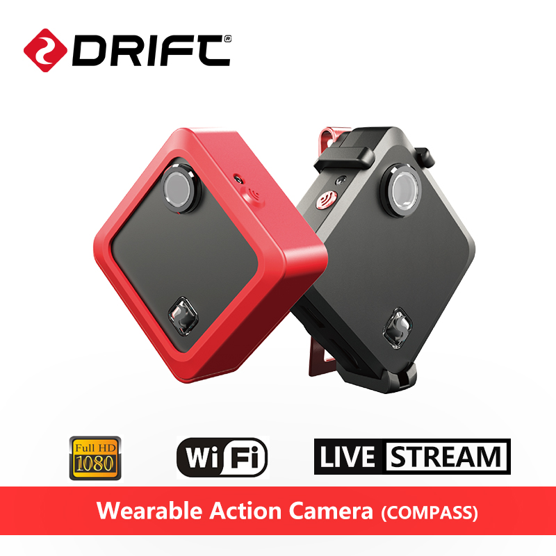 Original Drift COMPASS Wearable Action Camera 1080P HD 8MP Sport Mini Cam With WiFi Ambarella A7
