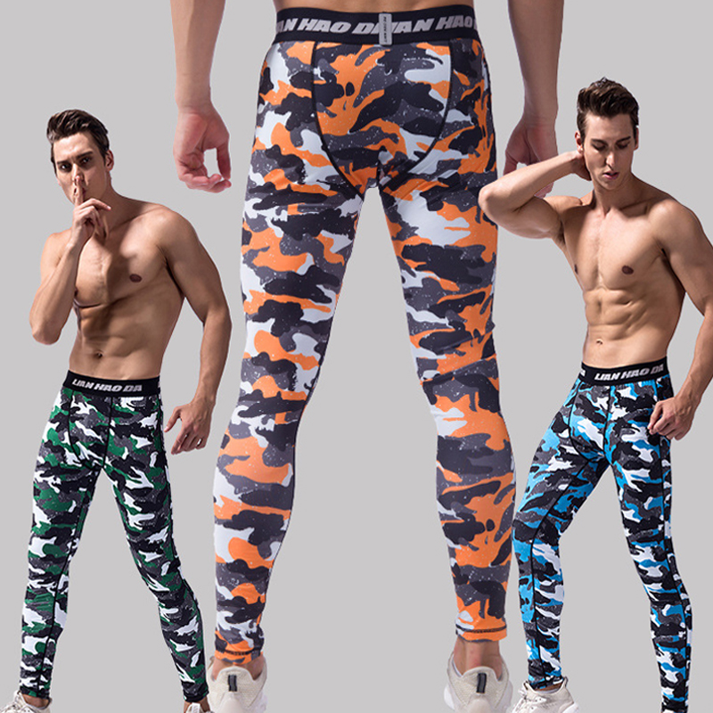 Fitness Leggings Cheap: Wholesale New Camouflage Running Tights Male Quick Dry