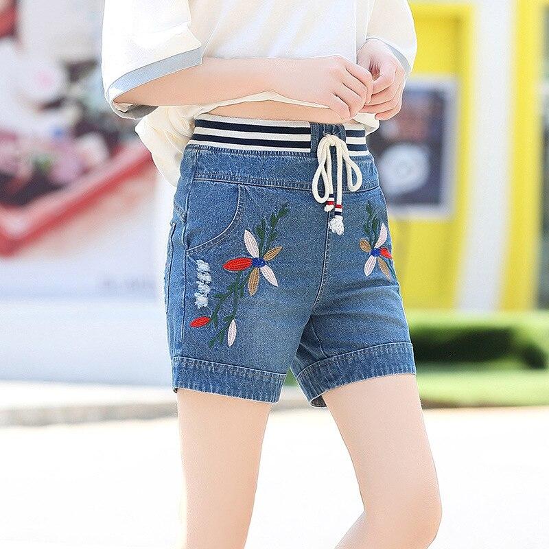 Popular Womens Elastic Waist Denim Shorts-Buy Cheap Womens Elastic ...